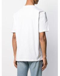 メンズ Helmut Lang ロゴ Tシャツ White