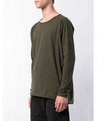 メンズ Jan Jan Van Essche コットン ロングtシャツ Green