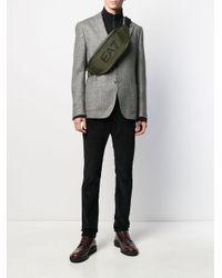 EA7 Green Logo Print Belt Bag for men