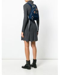 See By Chloé - Blue Zaino Con Toppe Ricamate - Lyst