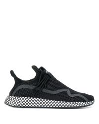 Adidas Black Thick Sole Sneakers for men