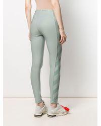 Off-White c/o Virgil Abloh Green Diagonal Striped Athletic leggings