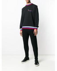 メンズ Billionaire ストライプヘム スウェットシャツ Black