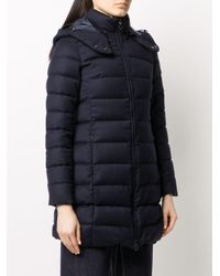Tatras Blue Fitted Padded Style Coat