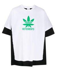 Vetements White Logo-print T-shirt