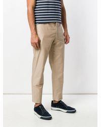 Pantalones rectos Incotex de hombre de color Natural