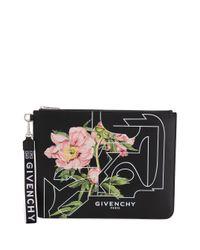 Clutch con stampa di Givenchy in Black da Uomo