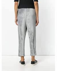 Andrea Ya'aqov Gray Cropped Track Pants