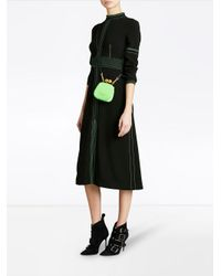 Burberry - Black Topstitch Detail Crepe Dress - Lyst