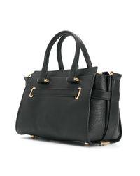 COACH Black Swagger 27 Tote Bag