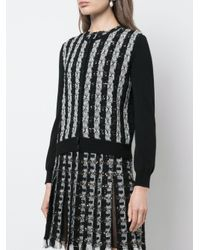 Cardigan a righe di Oscar de la Renta in Black