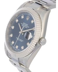 Наручные Часы Oyster Perpetual Datejust Pre-owned 41 Мм 2020-го Года Rolex для него, цвет: Blue