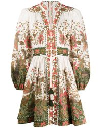 Zimmermann Empire フローラル ドレス White