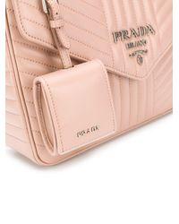 Prada ダイアグラム ショルダーバッグ Pink