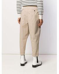 メンズ AMI オーバーサイズ キャロットフィット パンツ Natural