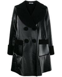 Vivetta - Black Oversized Coat - Lyst