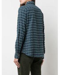 Camisa con motivo de cuadros Massimo Alba de color Blue
