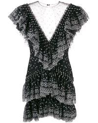 Philosophy Di Lorenzo Serafini Black Minikleid mit Rüschen