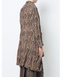 Uma Wang Brown Draped Coat