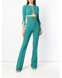 Elisabetta Franchi - Green Perfectly Fitted Playsuit - Lyst