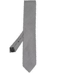 メンズ Tom Ford ジグザグ シルクネクタイ Black