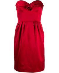 Moschino ストラップレス ドレス Red