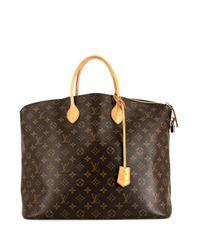 Louis Vuitton Brown 2011 pre-owned Lockit Shopper