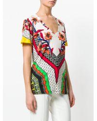 Etro Multicolor Patterned V-neck T-shirt