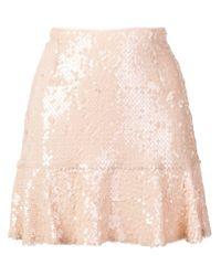 Minifalda con lentejuelas Gina de color Pink