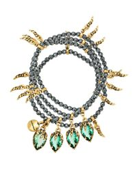 Lot de trois bracelets Camila Klein en coloris Metallic