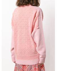 Trompe l'oeil sweater J.W. Anderson en coloris Pink