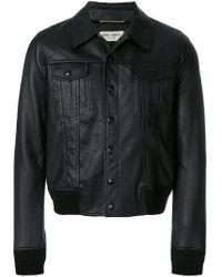 Giacca con bottoni di Saint Laurent in Black da Uomo