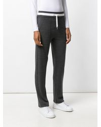 Eleventy - Gray Drawstring Track Pants - Lyst