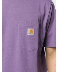 メンズ Carhartt WIP ポケット Tシャツ Purple