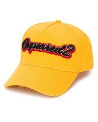 Бейсболка С Вышитым Логотипом DSquared² для него, цвет: Yellow
