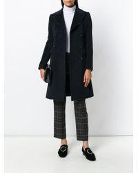 Tagliatore Blue Double Breasted Coat