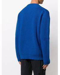 Джемпер Фактурной Вязки Bottega Veneta для него, цвет: Blue
