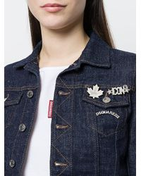 DSquared² - Metallic Logo Brooches Set - Lyst