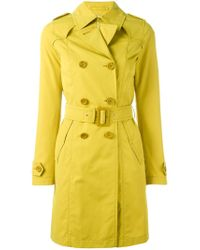 Herno Yellow Double Breasted Coat