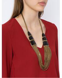 Camila Klein - Metallic Correntária Long Necklace - Lyst