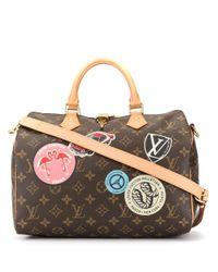 Сумка Speedy Bandouliere 30 С Ручками И Ремнем Pre-owned Louis Vuitton, цвет: Brown