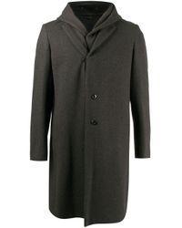 Attachment Einreihiger Mantel im Layering-Look in Gray für Herren