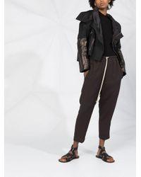 Jersey largo de canalé Rick Owens de color Black