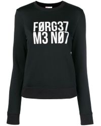 "RED Valentino Black ""forget Me Not"" Sweatshirt"