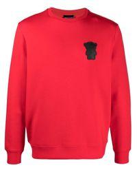 メンズ Emporio Armani ロゴパッチ スウェットシャツ Red