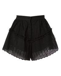 SIR Black Celié Ruffle Shorts
