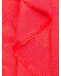 ESCADA ロゴ スカーフ Red