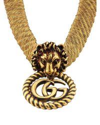 Gucci ライオンヘッド チョーカー Metallic