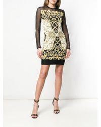Versace Black Baroque Print Dress
