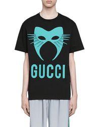 メンズ Gucci オーバーサイズ Tシャツ Black